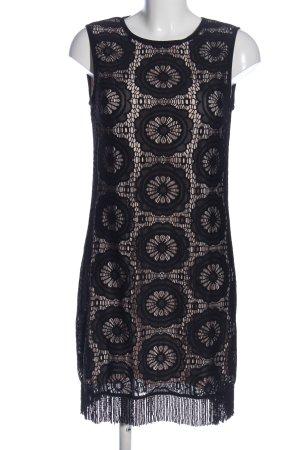 Ana Alcazar Robe courte noir-blanc cassé style décontracté