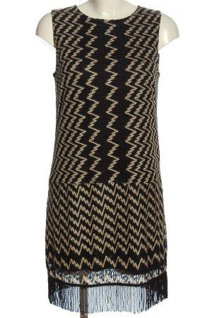 Ana Alcazar Robe courte noir-crème imprimé allover style décontracté