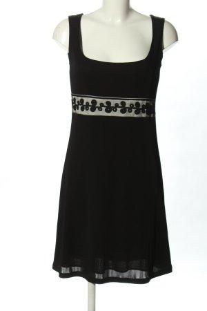 Ana Alcazar Mini vestido negro-color plata look casual