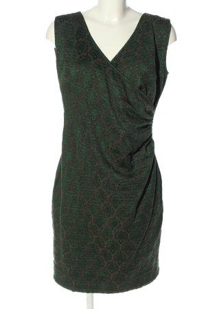 Ana Alcazar Robe courte brun motif abstrait style décontracté