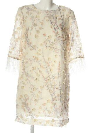 Ana Alcazar Mini Dress natural white allover print elegant
