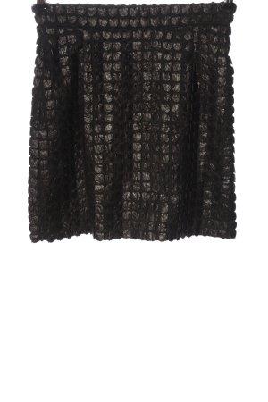 Ana Alcazar Mini rok zwart-bruin casual uitstraling