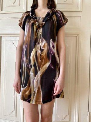 Ana Alcazar Robe courte multicolore soie