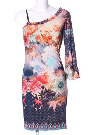 Ana Alcazar Vestido de un hombro estampado con diseño abstracto look casual