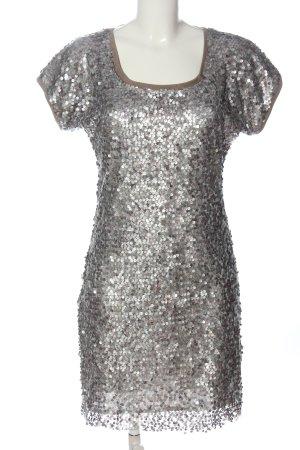 Ana Alcazar Robe à paillettes argenté élégant