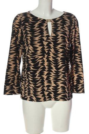 Ana Alcazar Slip-over blouse nude-zwart volledige print casual uitstraling