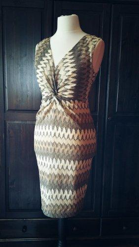 Ana Alcazar Sommer Kleid 40 (eher 38) creme braun beige ohne Arm Fest Feier