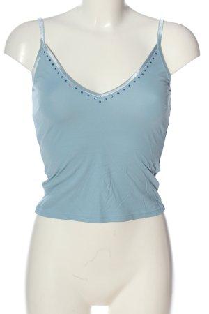 Ana Alcazar Top z cienkimi ramiączkami niebieski W stylu casual