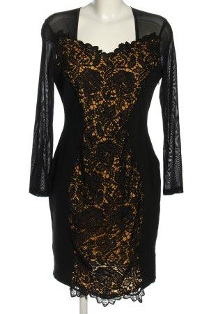 Ana Alcazar Vestido de encaje negro-naranja claro look casual