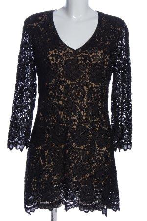 Ana Alcazar Vestido de encaje negro estilo fiesta