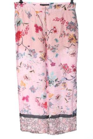 Ana Alcazar Pantalone jersey rosa motivo floreale stile casual