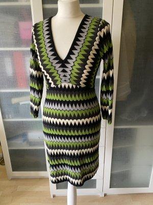 Ana Alcazar Robe en maille tricotées vert forêt-vert foncé