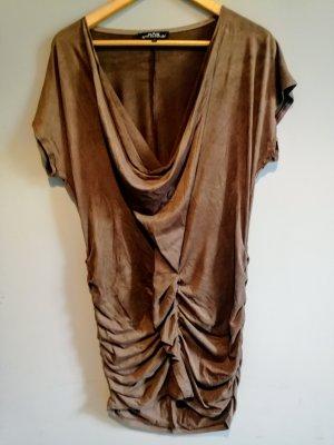 Ana Alcazar Vestido de manga corta marrón
