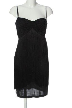Ana Alcazar Vestido tipo overol negro elegante
