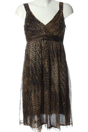 Ana Alcazar Robe à bretelles brun-crème imprimé allover style décontracté