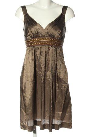 Ana Alcazar Robe à bretelles brun élégant
