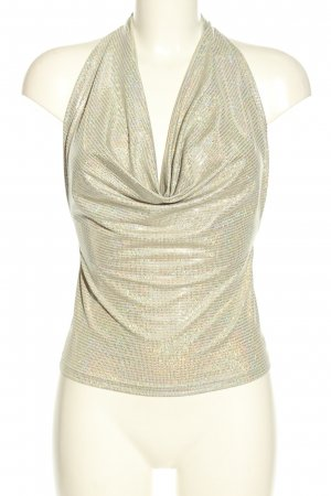 Ana Alcazar Cowl-Neck Top gold-colored elegant