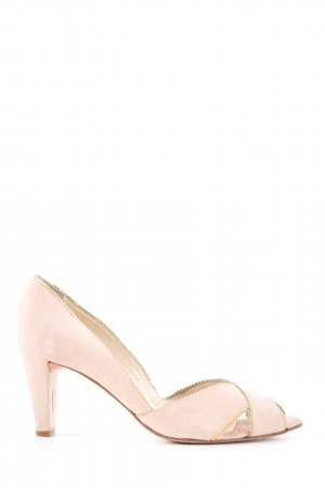 Ana Bonilla Peeptoe Pumps pink Casual-Look