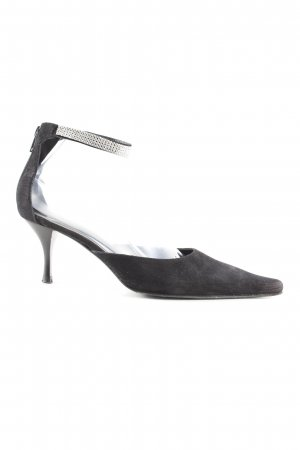 Ana Bonilla Spitz-Pumps schwarz Casual-Look