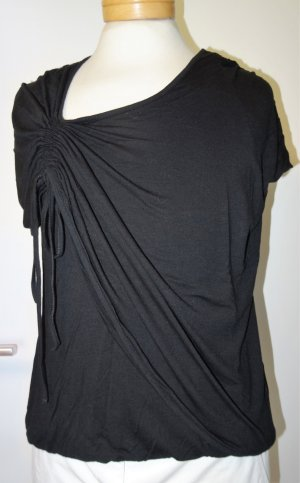 Cowl-Neck Shirt black viscose