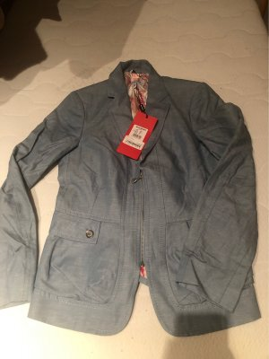 Ana Sousa Denim Blazer grey-pale blue cotton