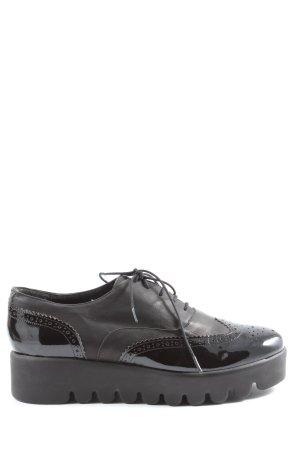 ANAKI Veterschoenen zwart zakelijke stijl
