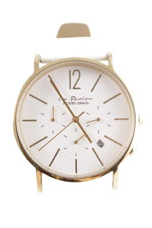 Zegarek analogowy biały-złoto Elegancki