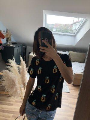 Ananas schwarz Glitzer T-shirt von Vero Moda Gr.Xs