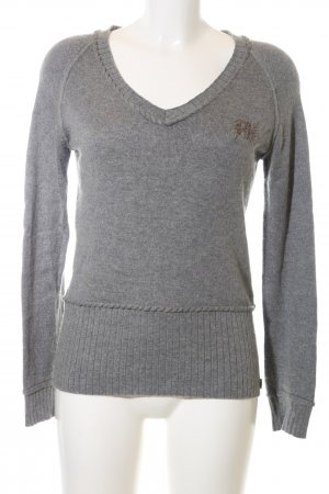 Anastacia by s.Oliver Knitted Sweater light grey striped pattern casual look