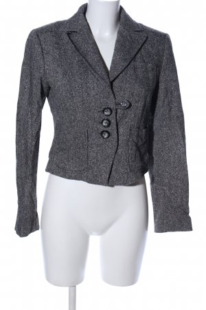 Anastacia by s.Oliver Tweed Blazer light grey flecked business style