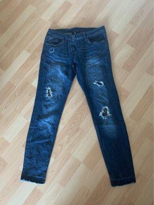 Anastacia Tube jeans blauw-donkerblauw