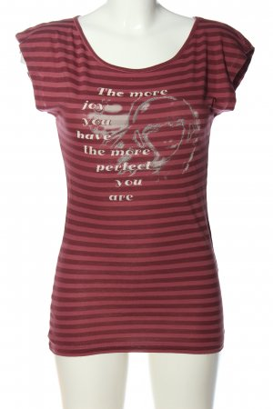 Anastacia T-shirt rosso-marrone Stampa a tema stile casual