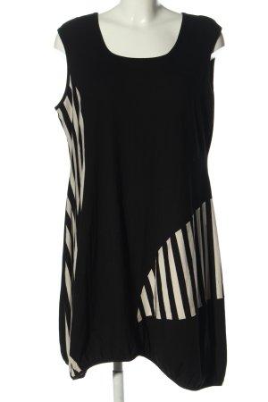 Anastasia Ballonkleid schwarz-weiß Streifenmuster Casual-Look