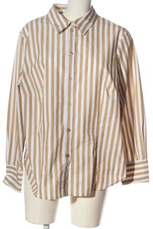 Anatelier Shirt met lange mouwen goud-wit gestreept patroon casual uitstraling
