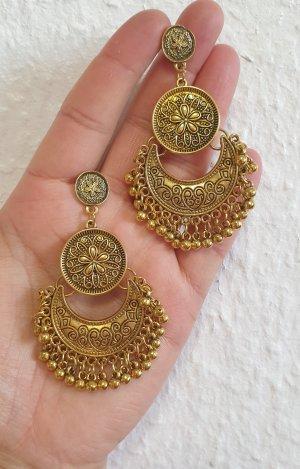 Bollywood Pendientes de oro color oro
