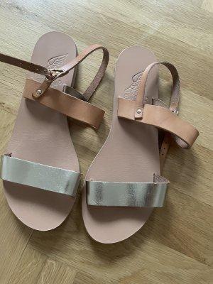 Ancient greek sandals Sandales à lanière multicolore