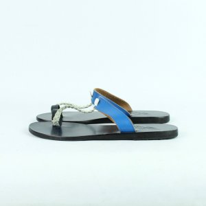 Ancient greek sandals High-Heeled Toe-Post Sandals multicolored
