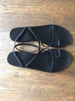 Ancient greek sandals Sandalias romanas negro