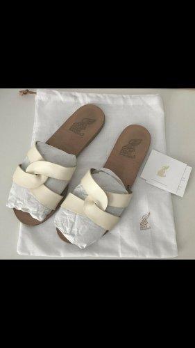 Ancient greek sandals Flip flop sandalen wit