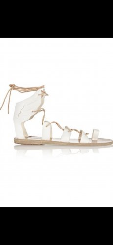 Ancient greek sandals Roman Sandals white-beige leather