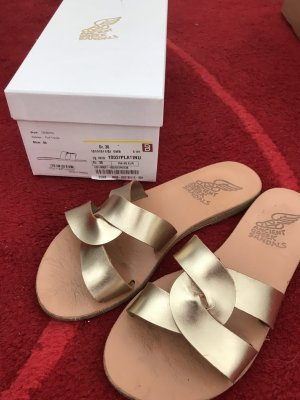 Ancient greek sandals Sabot oro Pelle