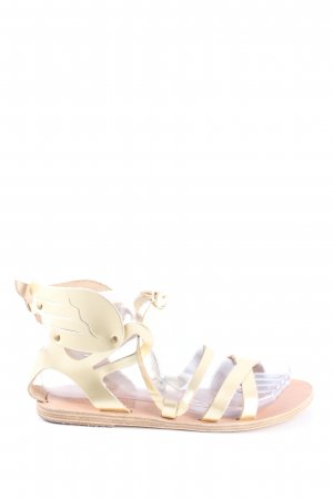Ancient greek sandals Sandały z rzemykami złoto Ekstrawagancki styl