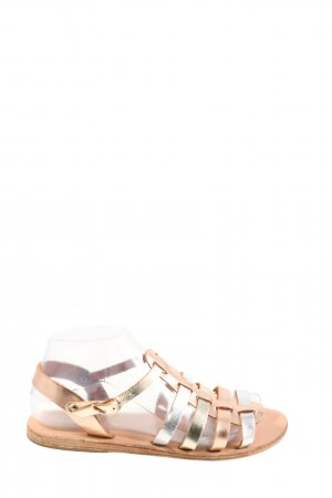 Ancient greek sandals Roman Sandals gold-colored-nude casual look