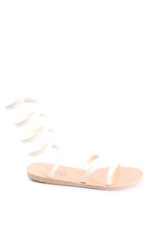 Ancient greek sandals Roman Sandals white casual look