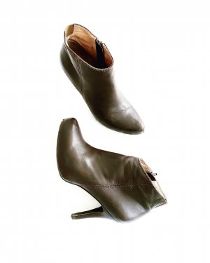 ancle boots • stiefelette • leder • braun • vintage