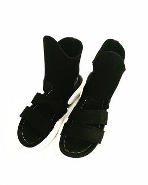 ancle sandals • knöchel sandalen • vintage • schwarz • weiss
