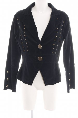 Ancora Short Blazer black-gold-colored business style