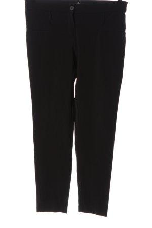Ancora Stoffen broek zwart casual uitstraling