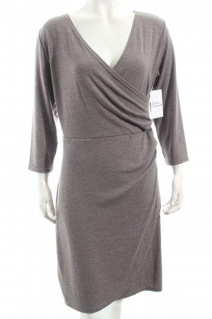 ancora Knitted Dress grey brown casual look