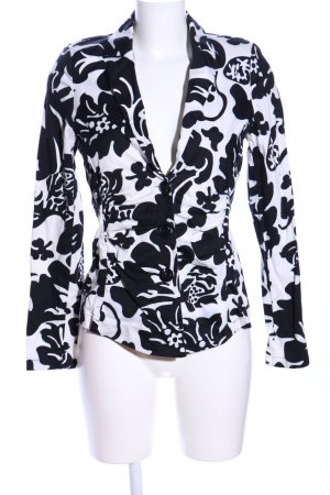 Ancora Between-Seasons Jacket black-white abstract pattern casual look